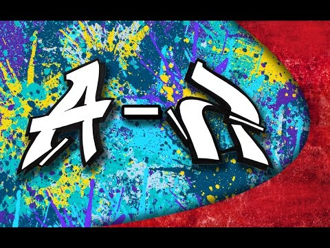 GRAFFITI ALPHABET - Simple letters from A - Z
