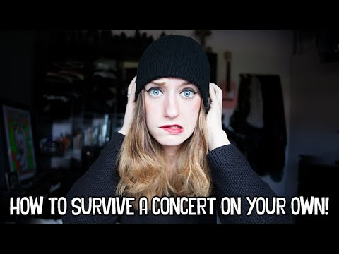 HOW TO SURVIVE A CONCERT ON YOUR OWN | Rocknroller