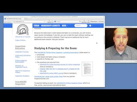 Take the Home Inspector Licensing Exam in Florida