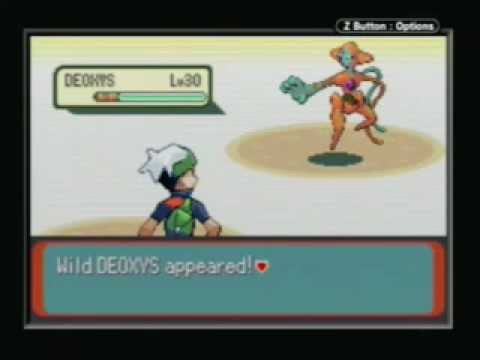 Me catching Deoxys!! pokemon Emerald!