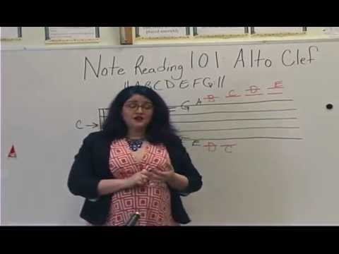 Note Reading 101: Alto Clef