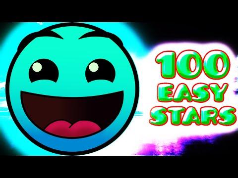 100 EASY STARS!!! - Geometry Dash