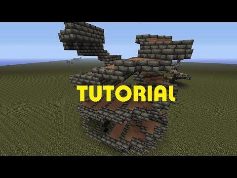 Minecraft Double spiral stair case tutorial