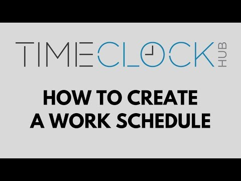How To Create a Work Schedule with Time Clock Hub