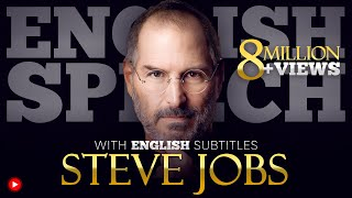 LEARN ENGLISH | STEVE JOBS: Stanford Commencement | SPEECH with BIG SUBTITLES