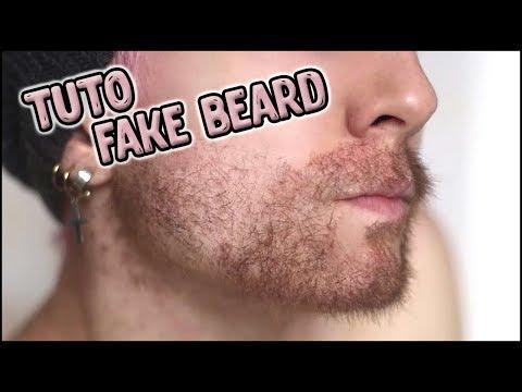 tuto  Fake beard / fausse barbe