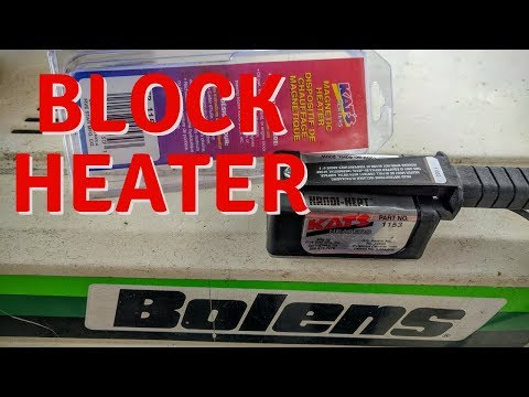 Cold Diesel Won't Start - Block Heater Review - Bolens Tractor Plowing Snow