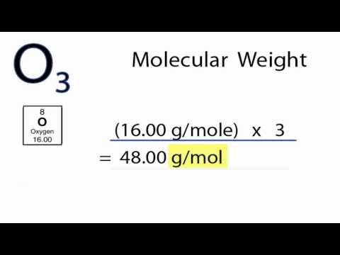 O3 Molecular Weight: How to find the Molar Mass of O3