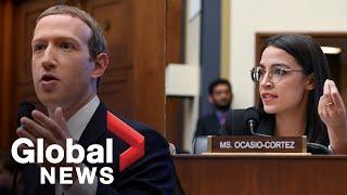 Alexandria Ocasio-Cortez grills Mark Zuckerberg during Congressional hearing