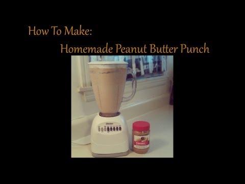 How To Make HOMEMADE PEANUT BUTTER MILKSHAKE / PUNCH