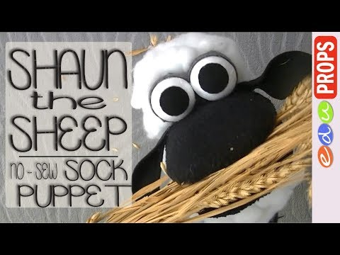 DIY SOCK PUPPET SHEEP - How to make no-sew sock puppets (Ep.03 Shaun the Sheep) | Edu Props