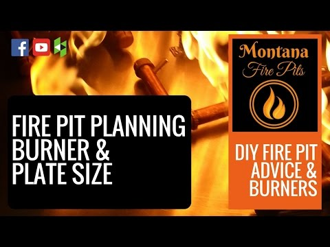 DIY Fire Pit Planning - Burner And Plate Size