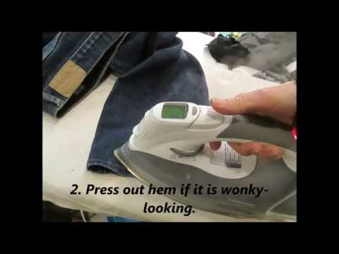 How to sew a jean Original Hem ~ Professionally