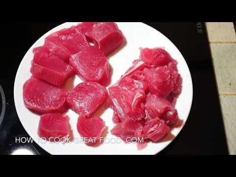 How to cook Fresh Tuna - 2 recipes Tuna Steaks & Garlic Tomato