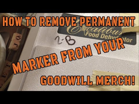 How to remove permanent marker/sharpie from your goodwill purchases.