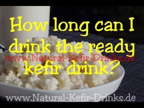How long can I drink the ready milk kefir beverage (storage life)?