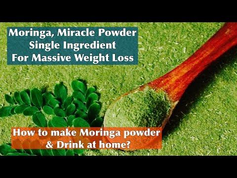 How to make Moringa powder And Drink for weight loss and PCOS