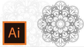 Tutorial Mandala Illustrator Mandala Illustrator 3