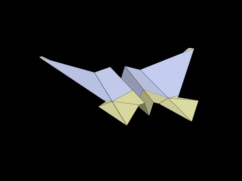 Neptune Paper Airplane: 3D Folding
