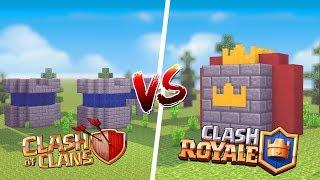 Minecraft: CASA DE CLASH OF CLANS VS. CASA DE CLASH ROYALE ‹ JUAUM ›