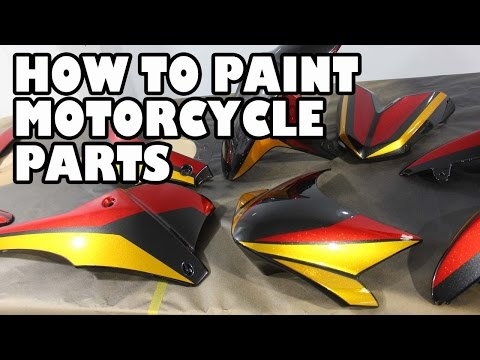 How to Spray Paint Motorcycle Parts. Speed T Project