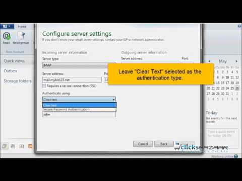Configuring an IMAP email account in Windows Live Mail