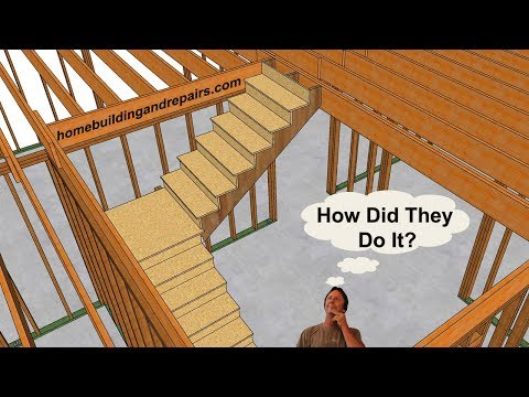 How To Build Landing Stairs Without Upper Supporting Walls - Design and Construction Ideas
