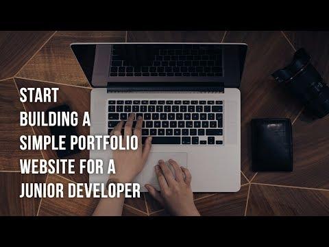 Start building a simple Portfolio Website for a Junior Developer