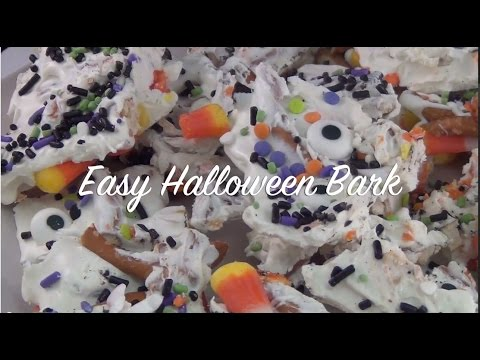 How to Make Easy Halloween Bark! (Kid Friendly)