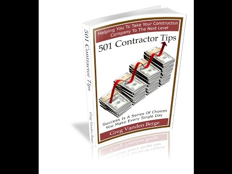 Working Faster - Contractor Construction Business Tip #43