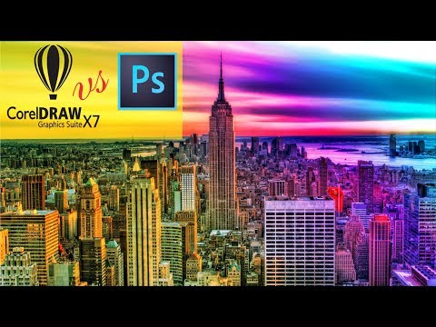 CorelDraw x7 - Vs - Photoshop cc 2017 - Colorful Photo Effect Best Tips By AS GRAPHICS