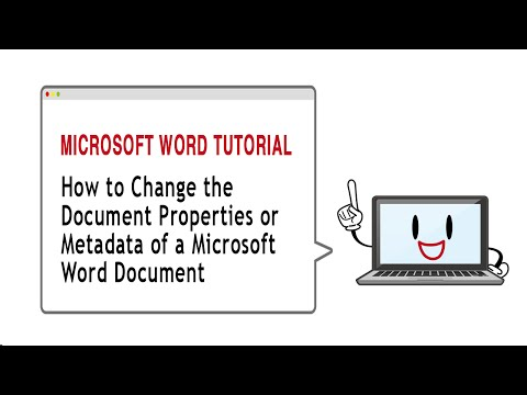 How-To Change Document Properties or Meta Data in Microsoft Word