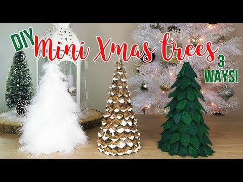 DIY Christmas Decor | How to Make 3 Mini Tabletop Trees (Affordable!)
