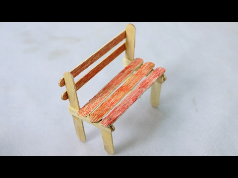 How to Make a Popsicle Stick Chair - DIY Ideas