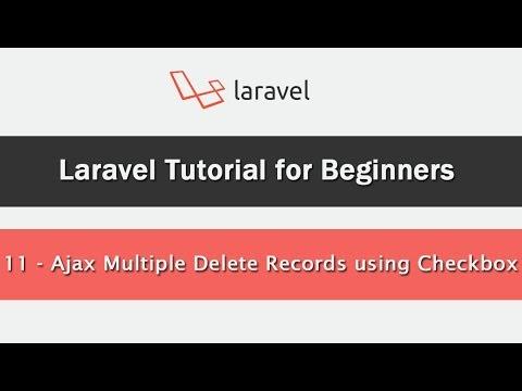 Ajax Multiple Delete Records using Checkbox in Laravel