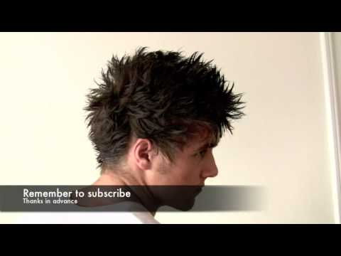 FAUX HAWK hairstyle for men - how to style David Beckham hairstyle Manchester