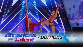 Elena and Sasha: Balancing Duo Takes Their Audition To Towering Heights - America