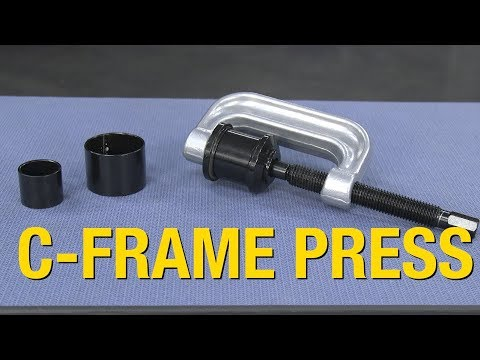 Remove or Install Ball Joints - Dissemble or Assemble U-Joints - 3-in-1 C-Frame Press - Eastwood
