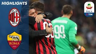 AC Milan 2-1 Roma   Cutrone Wins it Late for Milan   Serie A