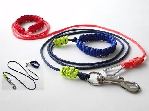 How to Make the Simplest Paracord Dog Leash-Adjustable Handle/Bracelet-Sliding Reflective Markers /