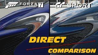 Forza 7 vs GTSport | Direct Comparison