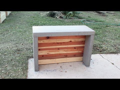 How to make concrete countertops for an outdoor bar or kitchen