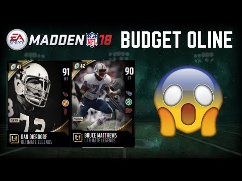 How To Build a BEAST Budget Oline In Madeen 18 Ultimate Team
