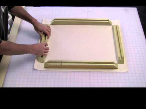 Stretching Canvas with Sunset Stretcher Bars