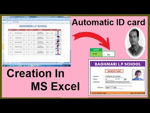 Automatic ID card creation in Microsoft Excel | step by step