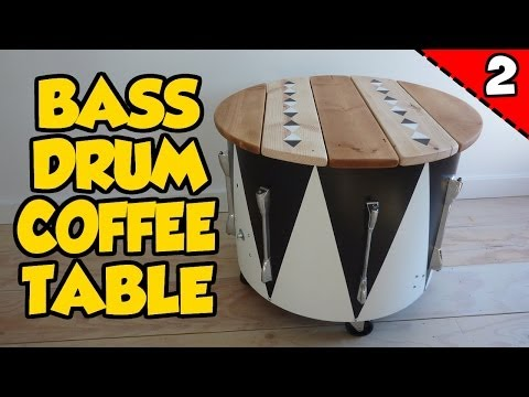 How to Make a BASS DRUM COFFEE TABLE - Part 2 of 2