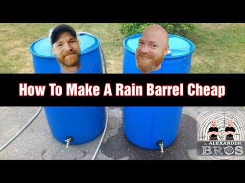 How To Make A Rain Barrel Cheap