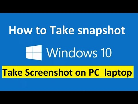Take Screenshot on Windows 10 PC or laptop!! - Howtosolveit