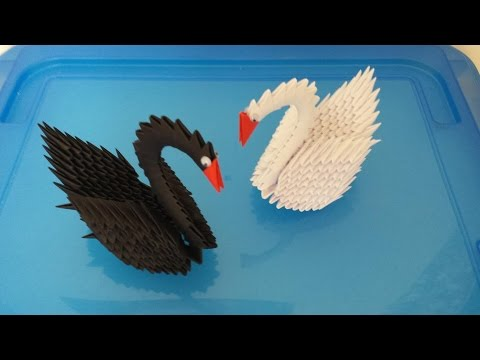 How to make 3D origami easy swan