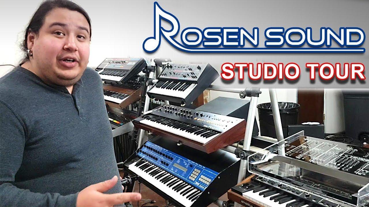 ROSEN SOUND - Synth Studio & Repair Shop Tour | Burbank, California